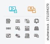 webinar icons set. education e...