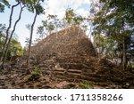 Ruins Of An Ancient Maya...