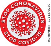 stop coronavirus stop covid19... | Shutterstock .eps vector #1711370290