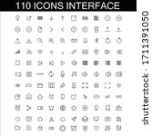 set pack of 110 user interface...