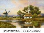 Digital Oil Paintings Rural...