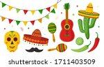 cinco de mayo celebration in... | Shutterstock .eps vector #1711403509