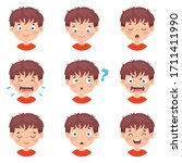 set of different expressions of ...   Shutterstock .eps vector #1711411990