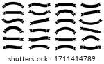 ribbon banner set. simple... | Shutterstock .eps vector #1711414789