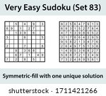 vector sudoku puzzle with... | Shutterstock .eps vector #1711421266