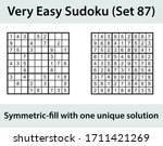 vector sudoku puzzle with... | Shutterstock .eps vector #1711421269