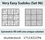 vector sudoku puzzle with... | Shutterstock .eps vector #1711421296