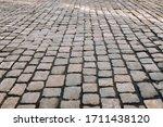 The Gray Paving Stones Close U...
