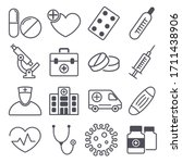 vector illustration of icons on ...   Shutterstock .eps vector #1711438906