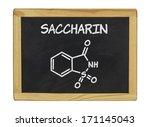 chemical formula of saccharin... | Shutterstock . vector #171145043