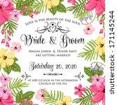 wedding invitation | Shutterstock .eps vector #171145244