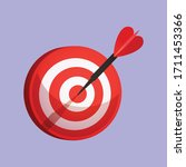 dart arrow bulls eye to target... | Shutterstock .eps vector #1711453366