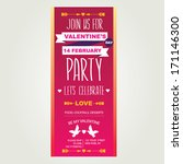 invitation valentine's day... | Shutterstock .eps vector #171146300