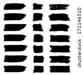 set of grunge brush strokes....   Shutterstock . vector #171146510