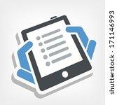 tablet list icon   Shutterstock .eps vector #171146993
