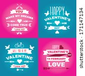 valentine's day set of symbols... | Shutterstock .eps vector #171147134