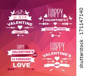 valentine's day set of symbols... | Shutterstock .eps vector #171147140