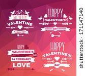 valentine's day set of symbols... | Shutterstock .eps vector #171147140