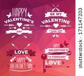 valentine's day set of symbols... | Shutterstock .eps vector #171147203