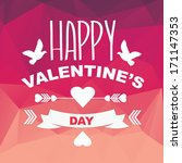 valentine's day poster... | Shutterstock .eps vector #171147353