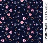semless small vector flower... | Shutterstock .eps vector #1711477810