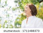 Asian Senior Age Woman   Smile