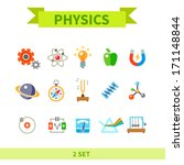 physics flat con set | Shutterstock .eps vector #171148844