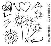 doodle vector set illustration...   Shutterstock .eps vector #1711488670