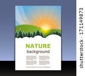 flyer or cover design   nature  ... | Shutterstock .eps vector #171149873