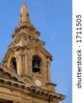 a stone church steeple | Shutterstock . vector #1711505