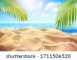 Tropical Fine Sandy Beach With...