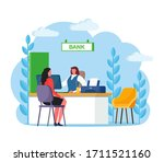 bank manager consulting client... | Shutterstock .eps vector #1711521160