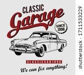 Design Vector Art Classic Car...