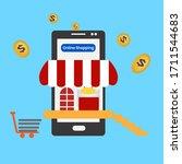 image vector.online shopping... | Shutterstock .eps vector #1711544683