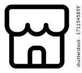 store. icon with outline style  ...