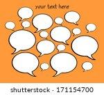 talk bubbles | Shutterstock . vector #171154700