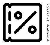 coupon. icon with outline style ...