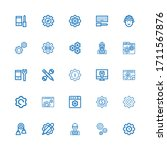 editable 25 cog icons for web... | Shutterstock .eps vector #1711567876