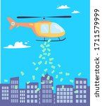 money is scattered from the...   Shutterstock .eps vector #1711579999