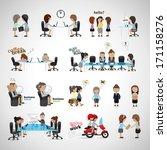business women   isolated on...   Shutterstock .eps vector #171158276
