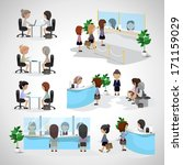 business women   isolated on... | Shutterstock .eps vector #171159029