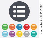 list sign icon. content view... | Shutterstock .eps vector #171159230