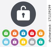 lock sign icon. login symbol.... | Shutterstock .eps vector #171159299