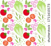 seamless pattern of appetizing... | Shutterstock .eps vector #1711610173