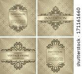 set of vintage decorative... | Shutterstock .eps vector #171161660