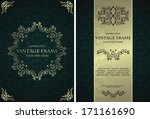 vector set of elegant vintage... | Shutterstock .eps vector #171161690