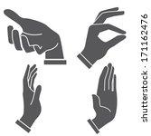 hand sign set | Shutterstock .eps vector #171162476