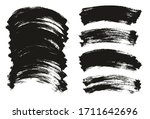 flat paint brush thin curved...   Shutterstock .eps vector #1711642696