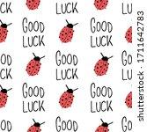 Ladybug And Good Luck Hand...