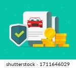 car or auto insurance financial ... | Shutterstock .eps vector #1711646029